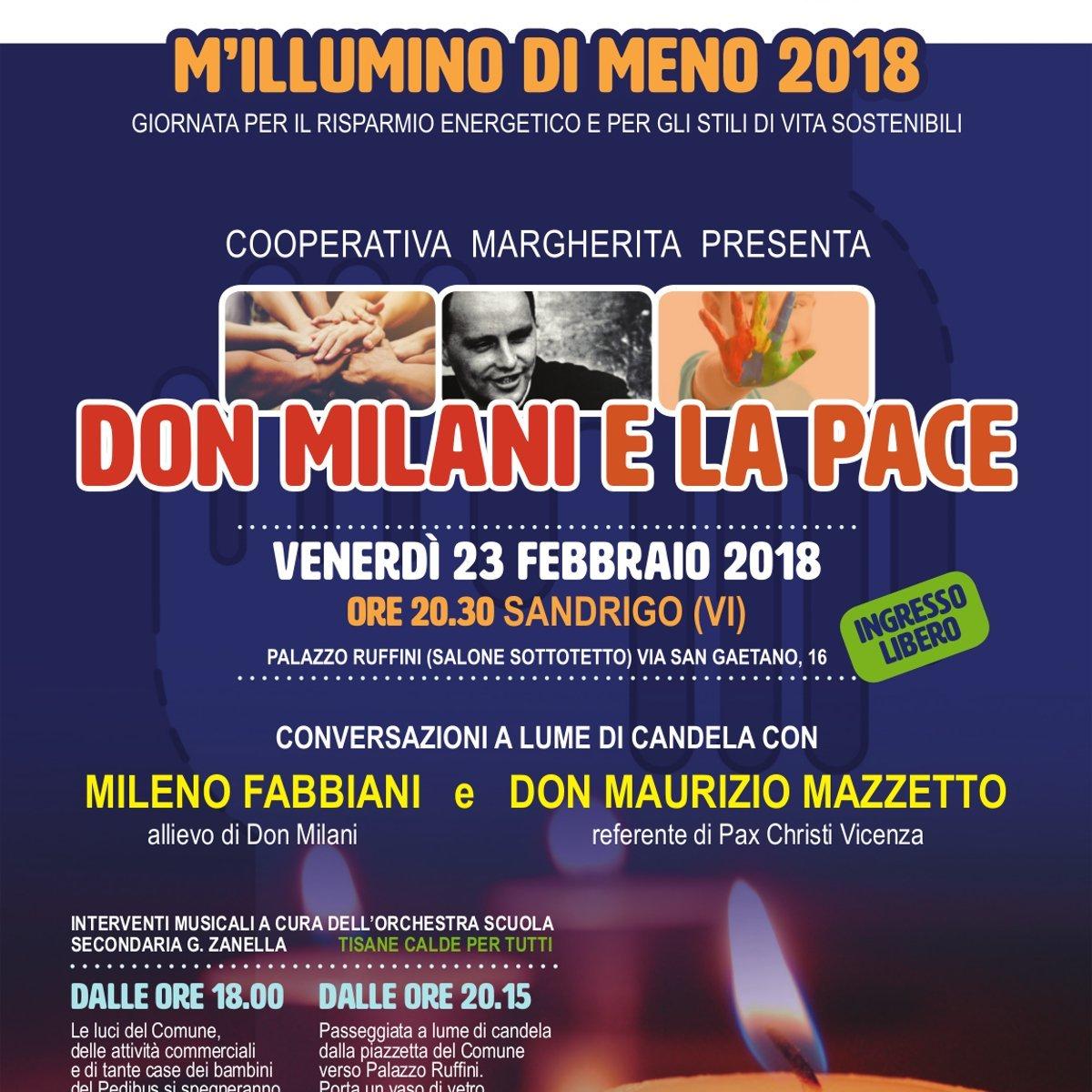 Don Milani e la Pace - M'illumino di Meno 2018